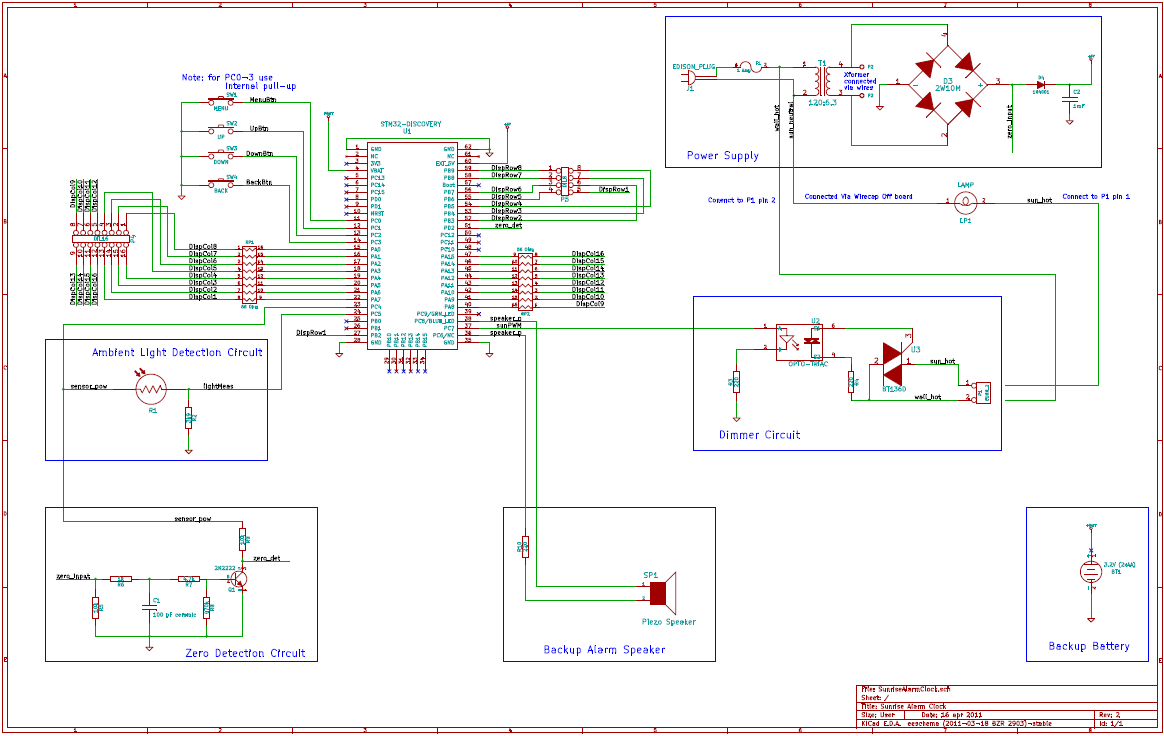 Version 1.0 Main Board Schematic Snapshot